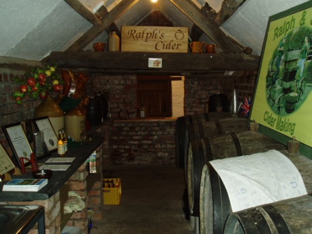A view inside the only Fully Licensed Cider House in Wales